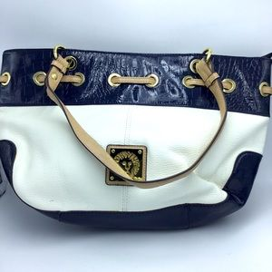SALE! Navy and White Bag